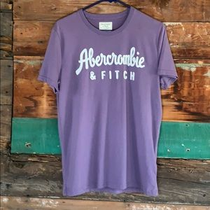 Purple Abercrombie and Fitch T-shirt